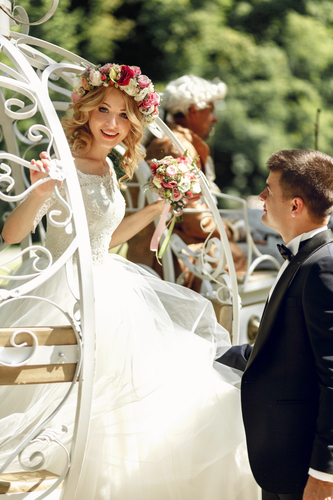 Mit der Hochzeitskutsche zur Hochzeit