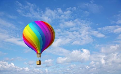 Heißluftballon für Heiratsantrag