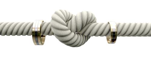 Knoten mit zwei Eheringen