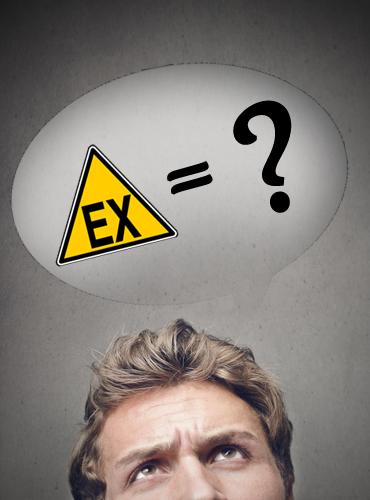 Kopf mit Fragezeichen und Ex darüber