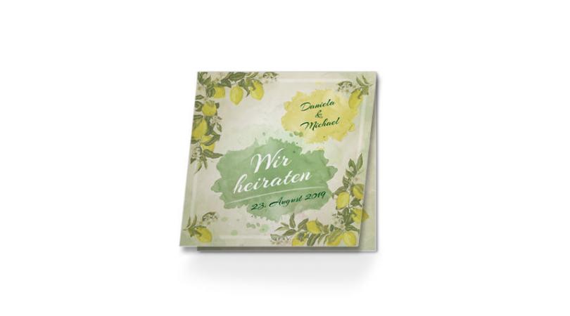 Hochzeit Einladung online bestellen Lemon