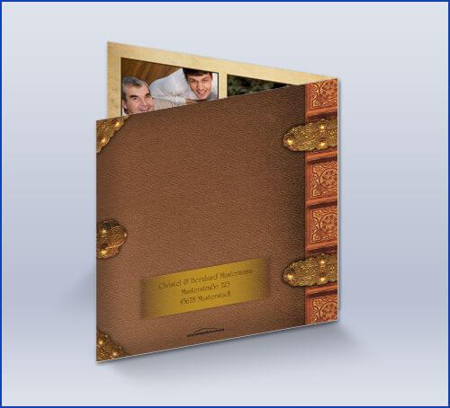 Danksagungskarte Goldene Hochzeit Altes Buch