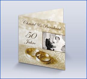Einladung Zur Goldenen Hochzeit U0027Klassisch Goldu0027