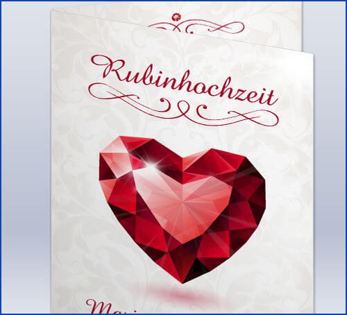 Rubinhochzeit Einladung   animefc.info