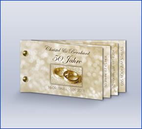 Einladung Goldene Hochzeit U0027Klassisch Gold Bookletu0027
