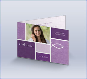 einladungskarten zur kommunion oder konfirmation, Einladung
