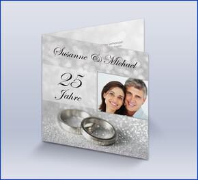 Einladungskarte Silberhochzeit U0027Klassisch Silberu0027