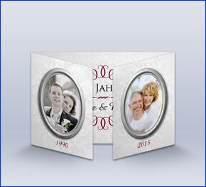 Einladungskarte Silberhochzeit U0027Vintageu0027