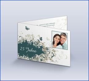 Einladungskarte Silberhochzeit U0027Vintage Herbstu0027