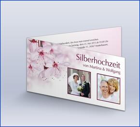 Einladung Zur Silberhochzeit U0027Sacurau0027