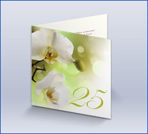 Einladungskarte Silberhochzeit U0027Orchideenu0027