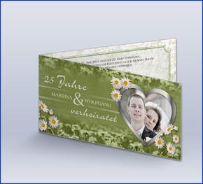 Einladung Silberhochzeit U0027Gänseblümchenu0027