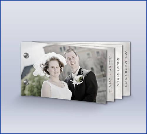 Einladung U0027Klassisch Silber Bookletu0027