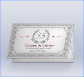 Einladung Silberhochzeit U0027Zertifikatu0027