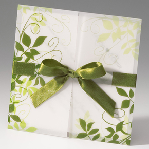 Einladungskarte U201eGrüne Blätteru201c