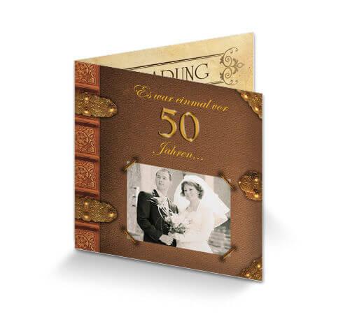 Einladung Goldene Hochzeit Altes Buch