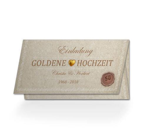 Einladung Goldene Hochzeit Zertifikat