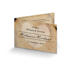 Einladung Hölzerne Hochzeit U0027Rustikalu0027