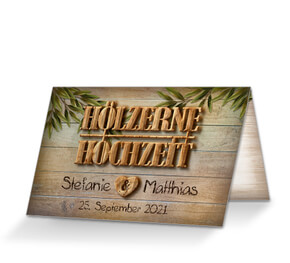 Einladung Hölzerne Hochzeit U0027Zehn Jahreu0027