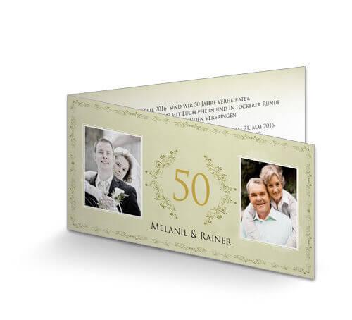 goldene hochzeit einladungskarten - einladung goldene