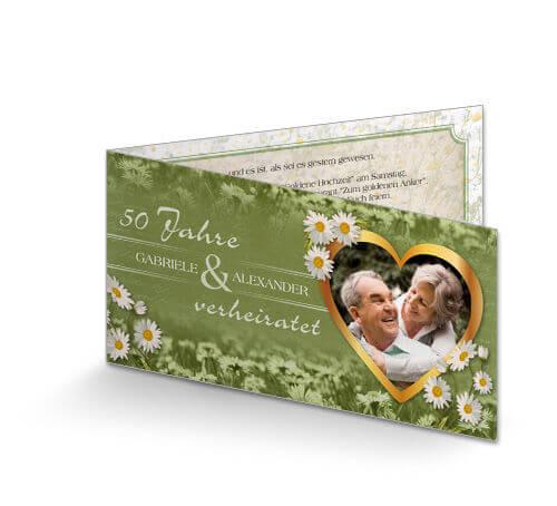 Einladung Zur Goldenen Hochzeit Gänseblümchen