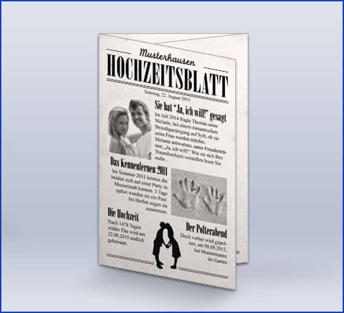 Hochzeitseinladung Alte Zeitung