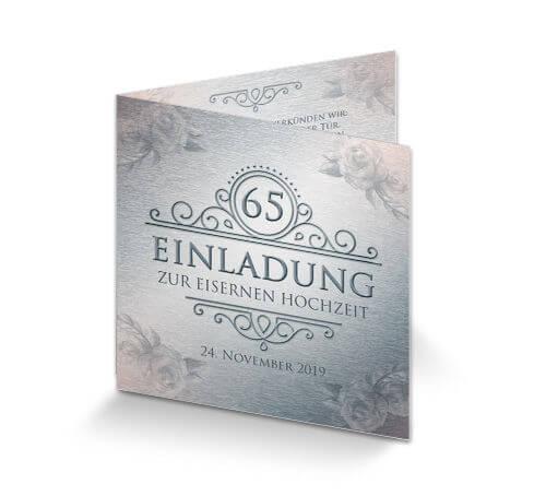 Einladungskarte Eiserne Hochzeit U0027Vintageu0027