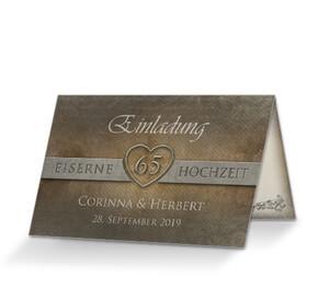 Diamantene Hochzeit Einladungskarten Online Selbst Gestalten