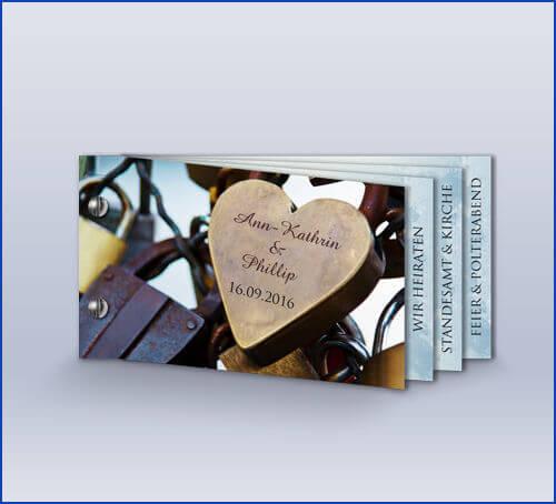 Hochzeitseinladungskarte U0027Kölner Schlösser Bookletu0027