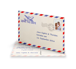 Save The Date Karte 'Air Mail'