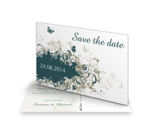 Save The Date Karten Vintage.Save The Date Karte Vintage Herbst