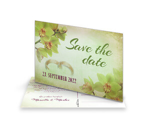 Save The Date Karte Orchideen