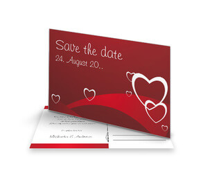 Save The Date Karte Rote Herzen