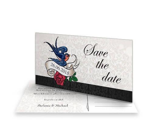 Save The Date Karten Vintage.Save The Date Karte Vintage Modern