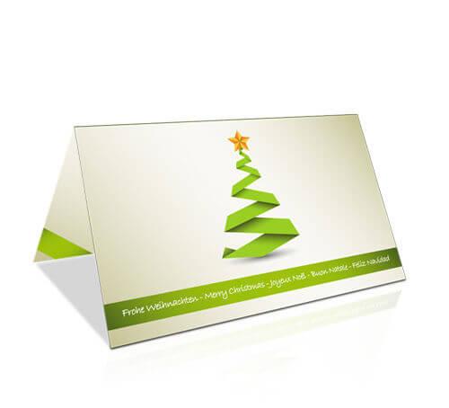 Weihnachtskarten Firma Individuell.Weihnachtskarte Geschäftlich Tanne Modern