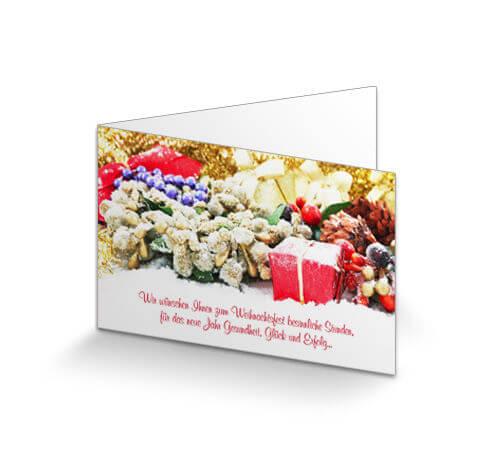 Designer Weihnachtskarten De.Weihnachtskarte Geschäftlich Klassik