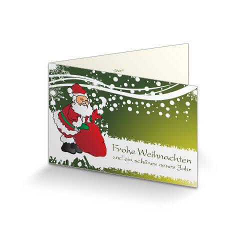 Individuelle Weihnachtskarten.Weihnachtskarte Geschäftlich Nikolaus