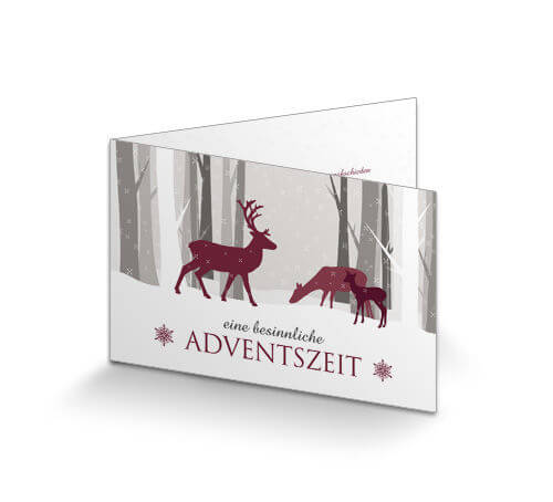 Weihnachtskarten Tiere.Weihnachtskarte Geschäftlich Tiere Im Wald